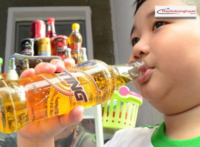 Uống nhiều nước tăng lực làm tăng lượng đường huyết (Ảnh:Internet)